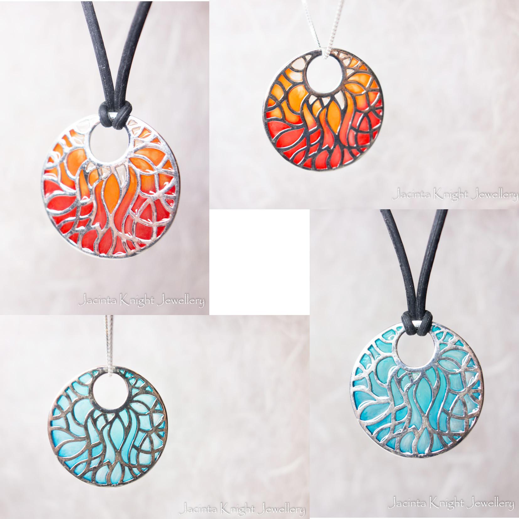 Flame pendants