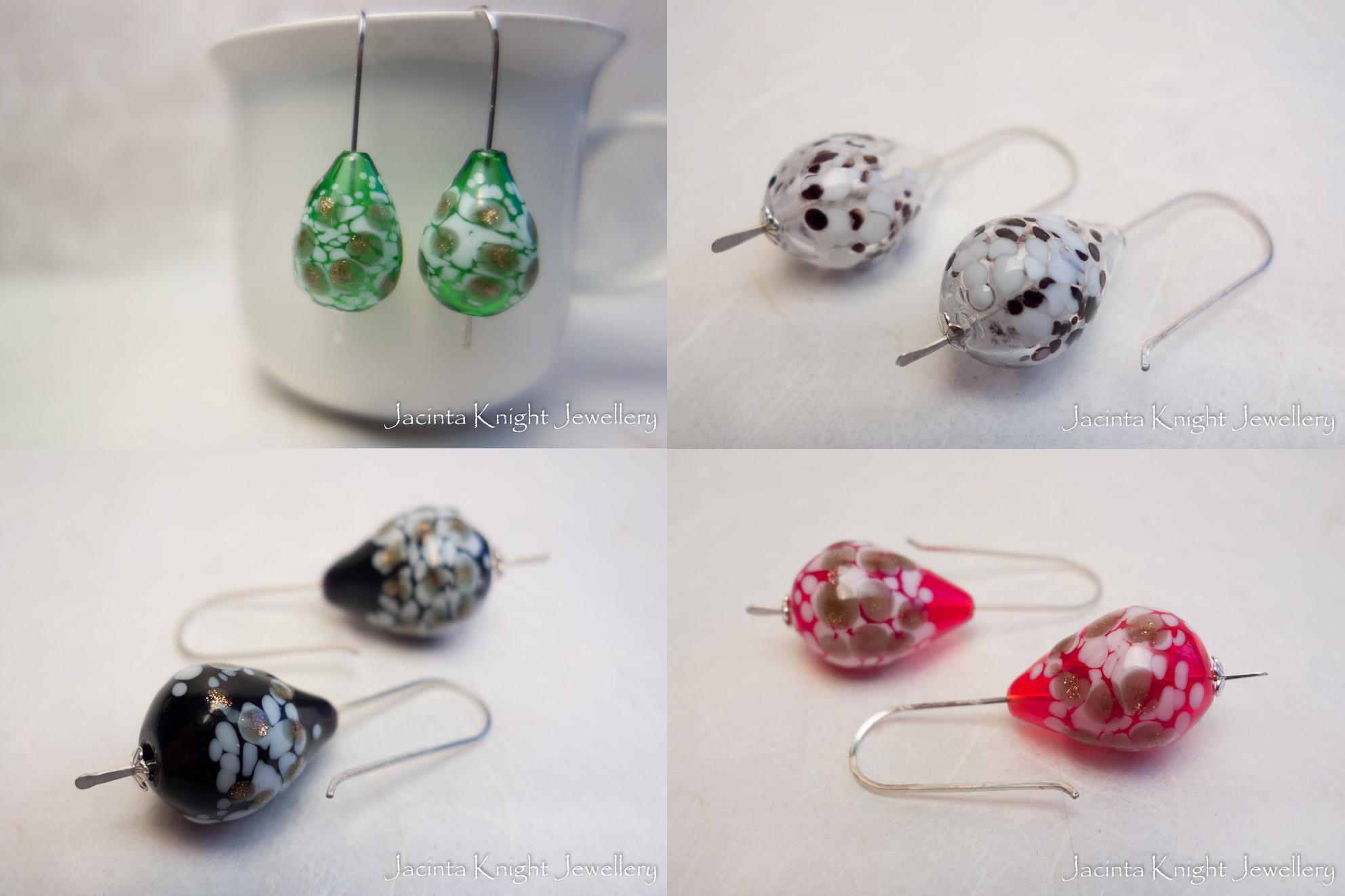 Glass bead earrings1