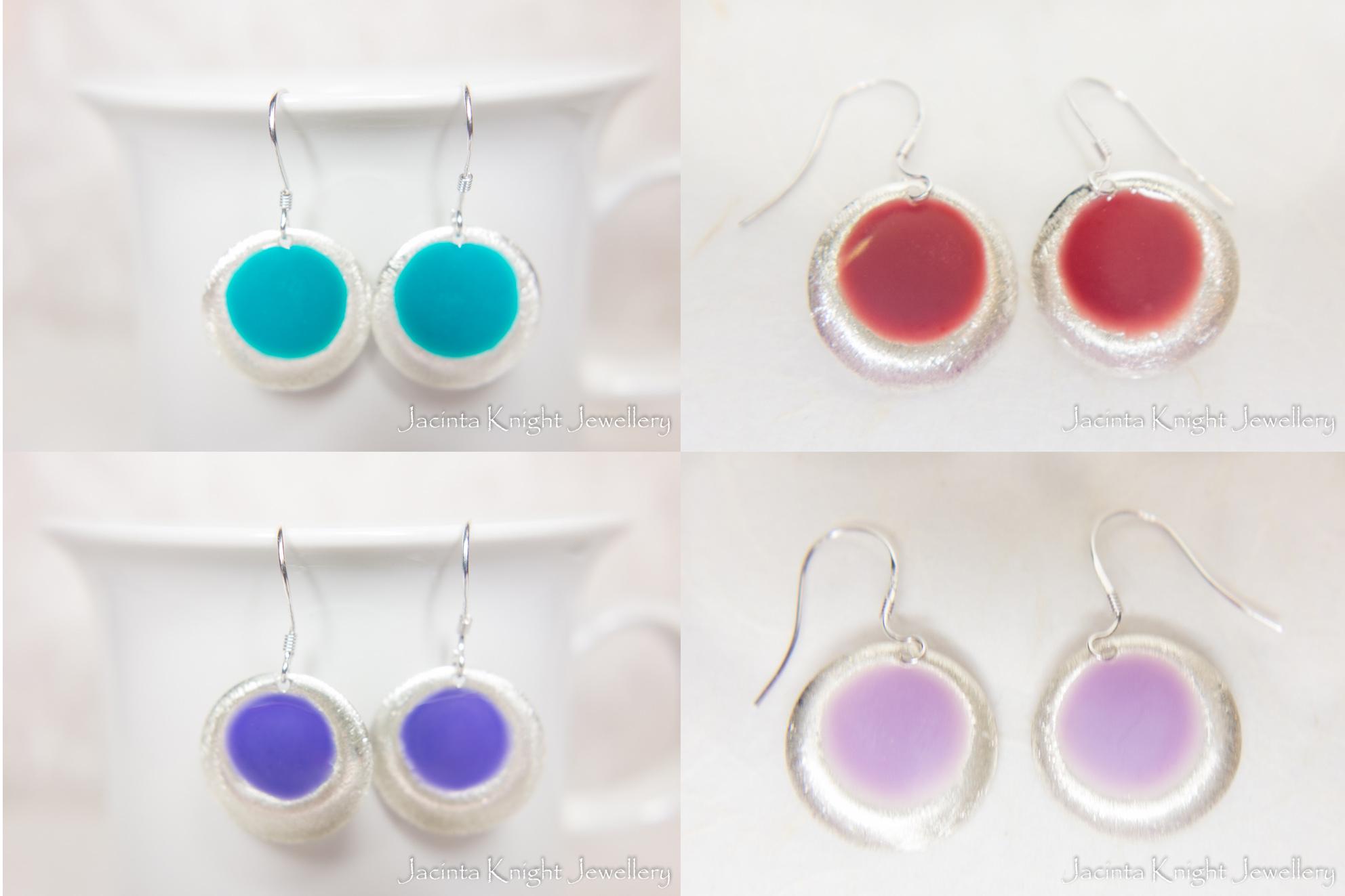 Matte dangle earrings1