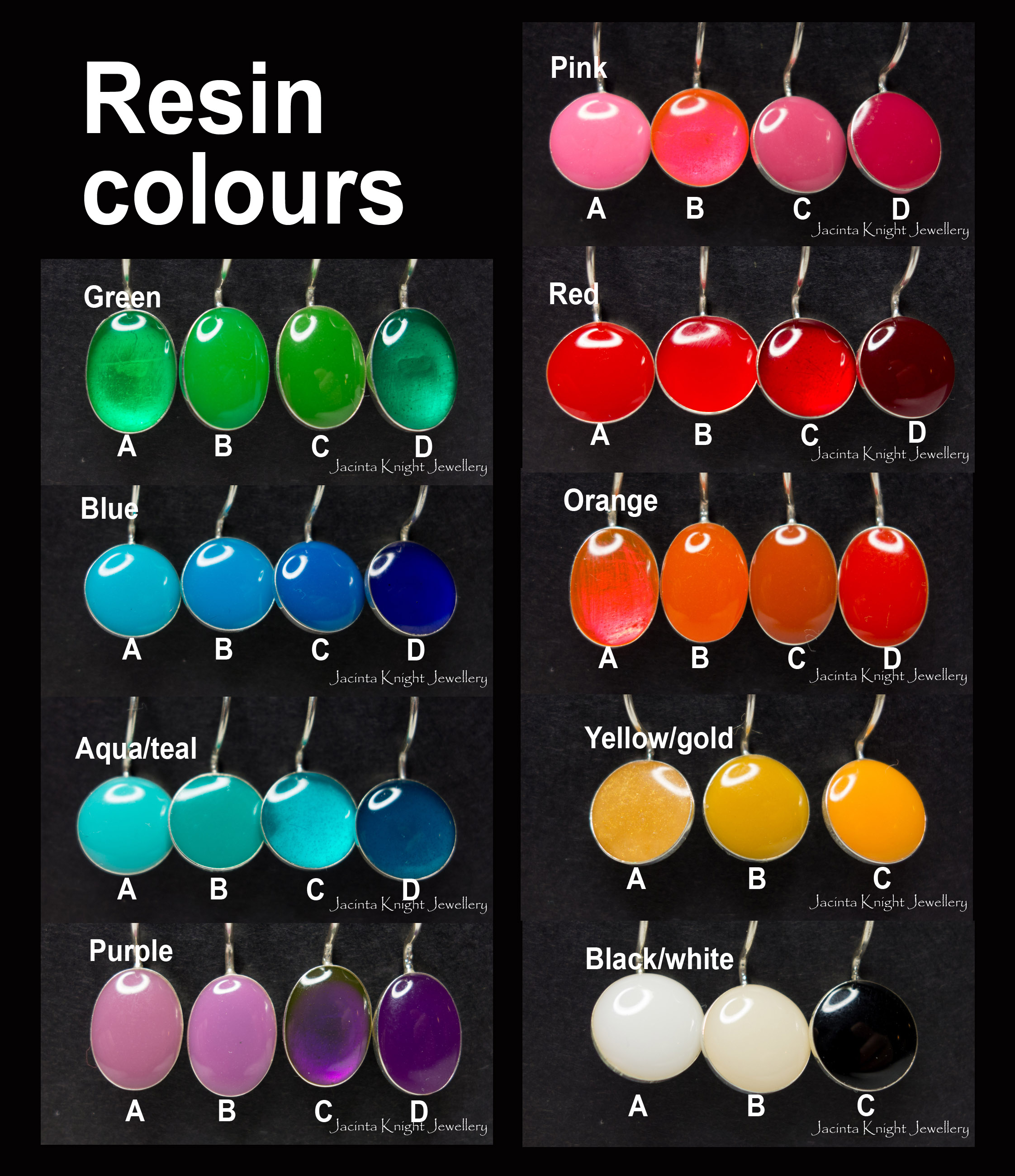 Resin colours