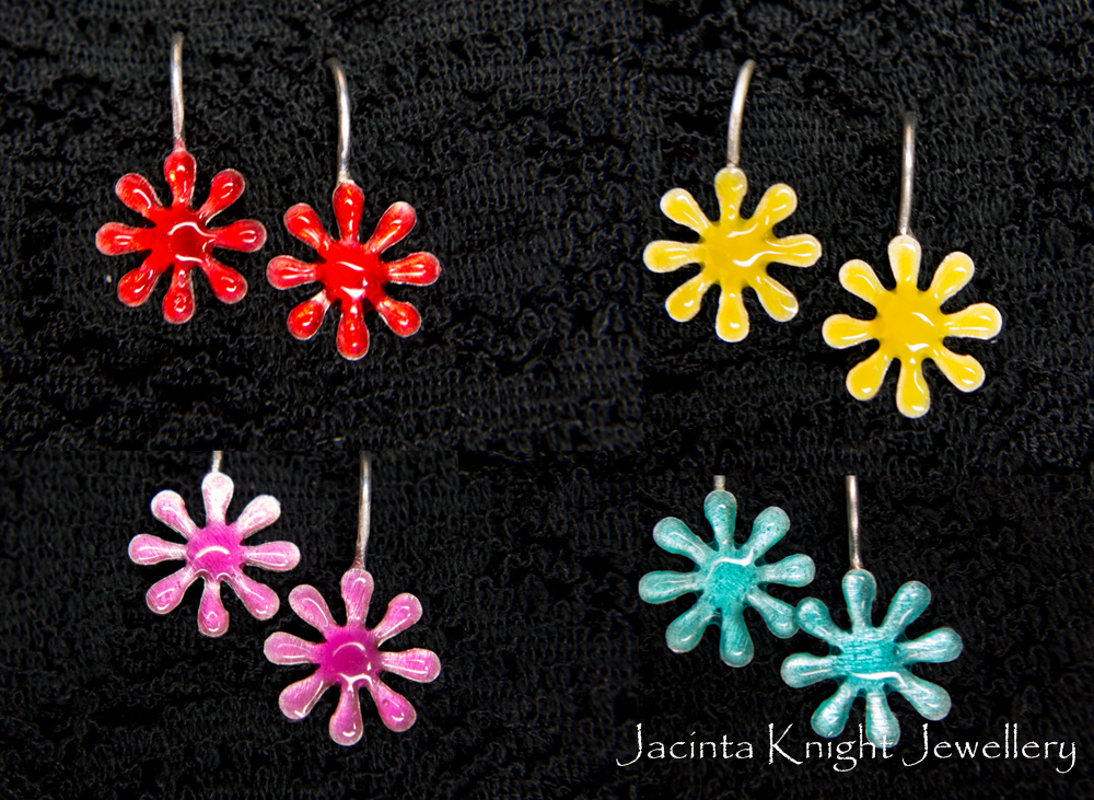 splat earrings combined