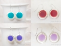 Matte dangle earrings1